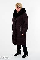 Женское зимнее пальто куртка удлиненное