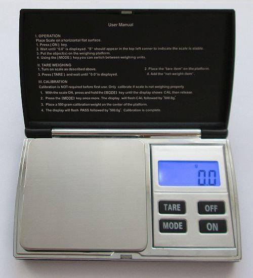 Ювелирные весы+чехол для хранения до 500 (0,1)