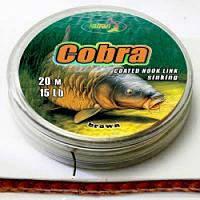 Поводковый мат. в оболочке Katran COBRA 25lb 20м