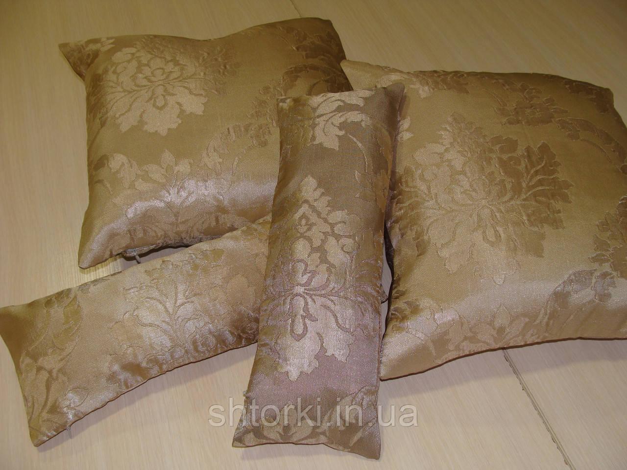 Комплект подушек золотисто-бежевые 4шт