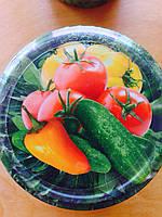 Крышка твист-офф 82 мм, овощи