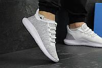 Мужские кроссовки Adidas Tubular Shadow Knit светло серые / кроссовки мужские адидас тубулар