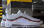 Мужские кроссовки Nike Air Max 97 OG x  Undefeated White. Живое фото (Реплика ААА+), фото 10