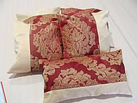 Комплект подушек бордо с песочным коронки 5шт , фото 1