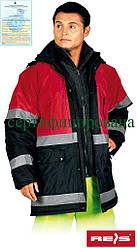 Куртка сигнальная утепленная рабочая Reis Польша (рабочая одежда сигнальная) BLUE-RED GC