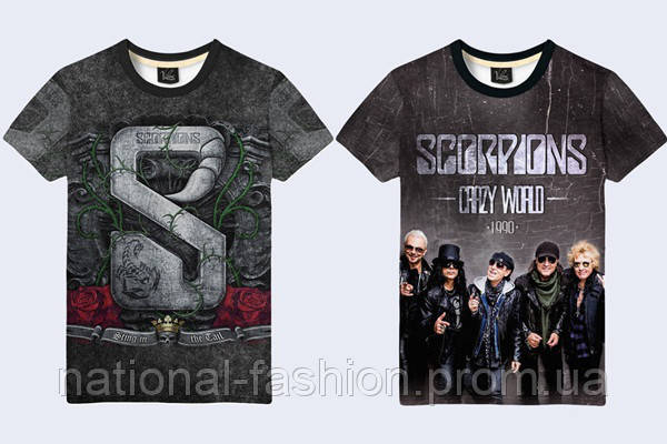 """Мужская футболка 3D """"Scorpions"""" (р."""