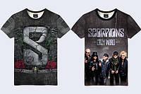 """Мужская футболка 3D """"Scorpions"""" (р., фото 1"""