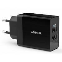 Сетевая зарядка ANKER PowerPort2 24W/4.8A V3 (Black)