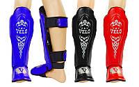 Защита для голени и стопы муай тай/ММА/кикбоксинг Velo 7023: кожа, размер M-XL