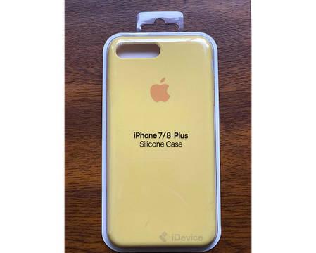 Силиконовый чехол для iPhone 7/8 Plus yellow, фото 2