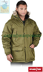 Куртка зимняяя з капюшоном робоча Reis Польща (утеплений спецодяг) GROHOL O