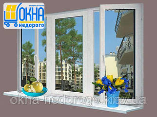 Трехстворчатое окно KBE 58