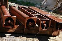 Шнековый транспортер в лотке в (желобе) 300 мм, длиной 9 м, 13 кВт