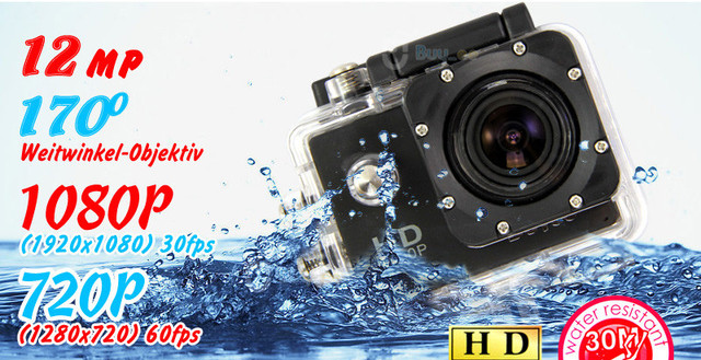 Экшн-камера Sports Full HD 1080p