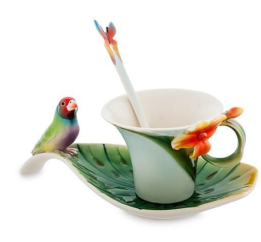 Фарфоровая посуда Pavone Дизайн Попугай