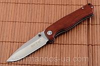 Нож складной для туризма, рыбалки и охоты, стальной клинок, деревянная рукоять