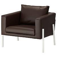 IKEA KOARP Кресло, Фарста, темно-коричневый, белый  (292.217.08)