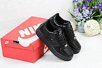 Подростковые кроссовки Nike Air Force черные / кроссовки женские найк аир форс