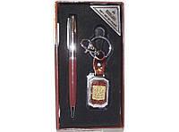 PN1-48 Подарочный набор MOONGRASS: ручка + брелок, Сувенирный набор, Рука на подарок, Брелок Герб, Презент