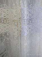 Тюль на фатиновой основе с вышивкой 3D. Оптом и на метраж .Высота 2.8 м. , фото 1