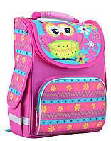 Рюкзак школьный каркасный 1 вересня Smart PG-11  Owl pink 554460