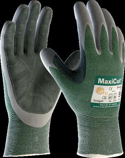 Защитные перчатки от порезов для работы с металом с кожаным покрытием на ладони MaxiCut® 34-450 LP