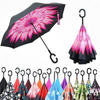 Зонт UpBrella (Апбрелла), зворотний парасолька з малюнком