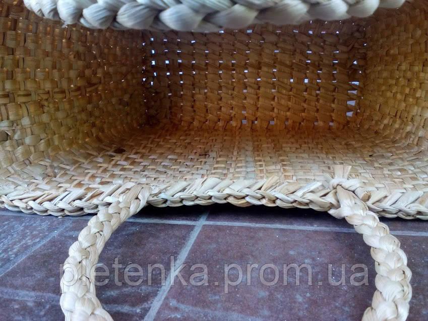 b94278eb43e6 ... Сумка плетенная из рогоза сплошного плетения (ручка косичкой), фото 4