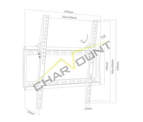 Кріплення для телевізора CHARMOUNT CT-PLB-E3012AN, фото 2