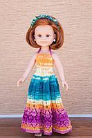 Цветное длинное платье Handmade для кукол Paola Reina, 32 см