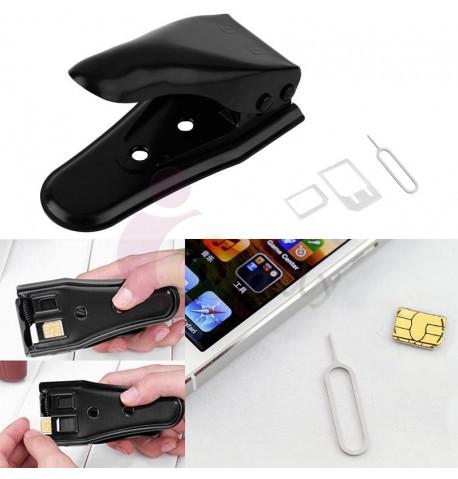 Резак для обрезки сим карт SIM карты 2в1 Micro Nano sim cutter