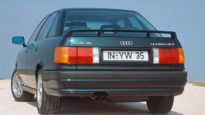Заднее стекло (ляда) на Audi 80/90 (1987-1992), седан, с антенной для радио
