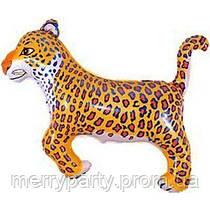 Шар фольгированный Леопард мини-фигура