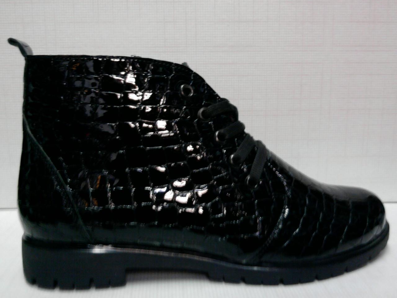 eb229a46603e Ботинки Grossi женские, лакированная кожа, черные - aleya comp в Ужгороде