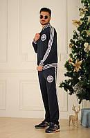 Спортивный мужской костюм, синий и черный