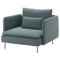 IKEA SODERHAMN Кресло, Finnsta бирюзовый  (591.356.48)