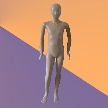 Манекен детский телесный (пластик, 140 см)