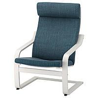 IKEA POANG Кресло, белое, взломанный флот  (491.978.25)