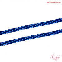 Крученый шнур 5мм для рукоделия цвет синий