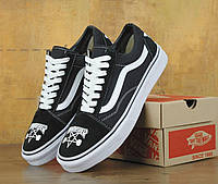Женские черно-белые кеды Vans Old Skool x Thrasher N0199