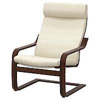 IKEA POANG Кресло, коричневый, Glose Надежный ecru  (898.607.70)