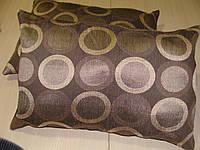 Комплект подушек Круги коричнево бежевые  2шт