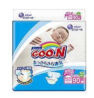 Подгузники GOO.N для новорожденных до 5 кг размер SS, на липучках, унисекс, 90 шт(853620)