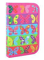 Пенал для школы твердый одинарный Smart Butterflyt, 20.5*13*3.2 (531654)