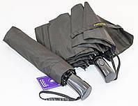 """Черный зонт полуавтомат на 10 карбоновых спиц от фирмы """"Feeling Rain""""."""