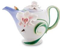 """Фарфоровый заварочный чайник """"Орхидея"""" (Pavone) FM- 37/ 1"""