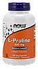 Синтез коллагена для укрепления связок - Пролин / NOW - L-Proline 500mg (120 caps)