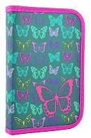 Пенал для школы твердый одинарный с клапаном Smart Butterfly, 20.5*13*3.2