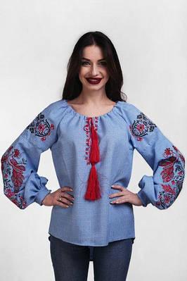 Женская синяя вышиванка