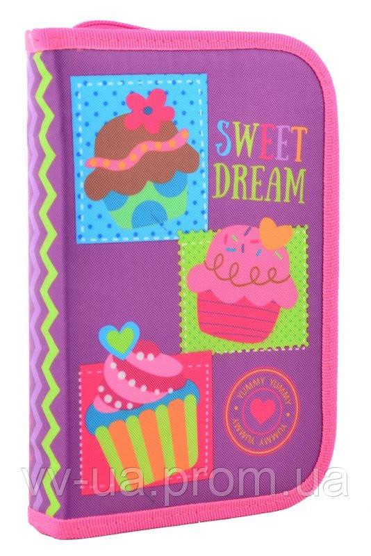 Пенал для школы твердый одинарный с клапаном Smart Sweet dream, 20.5*14*3.5 (531691)
